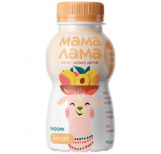 "Йогурт ""Мама лама"" 2.5% 200г персик"
