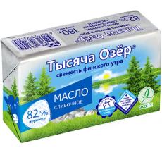 """Сливочное масло """"Тысяча озер""""  82.5% 180г"""
