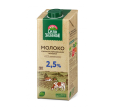 "Молоко ""Село зеленое"" 2.5% 0.95л"