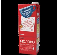 """Молоко """"Большая кружка"""" ГОСТ 3.2% 1450г"""