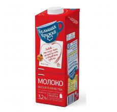 """Молоко """"Большая кружка"""" ГОСТ 3.2% 980г"""