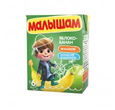 """Нектар """"Малышам"""" 0.2л яблоко-банан"""