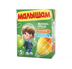 """Нектар """"Малышам"""" 0.2л яблоко-груша"""