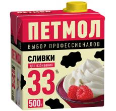 """Сливки """"Петмол"""" 33% 500г"""