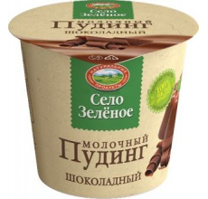 """Пудинг """"Село зеленое"""" шоколад 120г"""