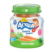 """Овощное пюре """"Агуша"""" ст/банка 80г морковь"""