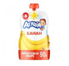 "Фруктовое пюре ""Агуша"" банан 90г"