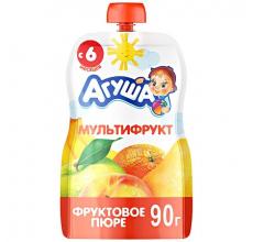 "Фруктовое пюре ""Агуша"" мультифрукт 90г"