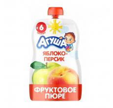 """Фруктовое пюре """"Агуша"""" яблоко-персик 90г"""