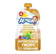 """Фруктовое пюре """"Агуша"""" злаки 90г"""