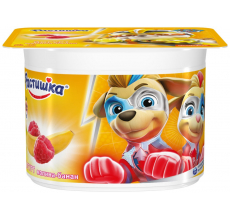 "Йогурт ""Растишка"" малина-банан 110г"