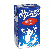 "Молоко ""Молочная речка"" 3.2% 970г"