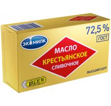 """Сливочное масло """"Крестьянское Экомилк"""" 72.5% 450г"""