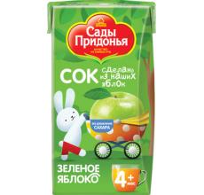 """Детский сок """"Сады Придонья"""" яблоко осв. 0.125л"""