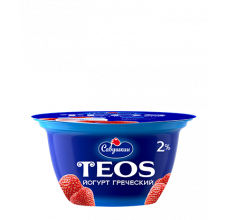 "Йогурт греческий Teos ""Савушкин продукт"" клубника 130г"