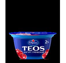"Йогурт греческий Teos ""Савушкин продукт"" вишня 130г"