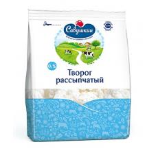 """Творог """"Савушкин продукт"""" рассыпчатый 0% 350г"""
