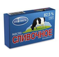 """Масло """"Сливочное Экомилк"""" 82.5% 180г"""