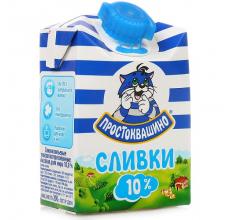 "Сливки ""Простоквашино"" 10% 200г"