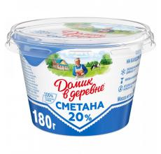 """СМЕТАНА """"ДОМИК В ДЕРЕВНЕ"""" 20% 180Г"""