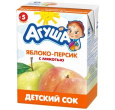 """Сок """"Агуша"""" яблоко-персик 200г"""
