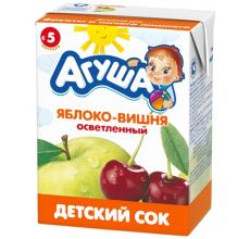"Сок ""Агуша"" яблоко-вишня 200г"