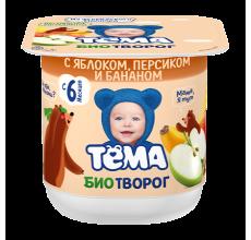 "Биотворог ""Тема"" яблоко-персик-банан 100г"
