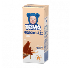 "Молоко ""Тема"" 3.2% 200г"