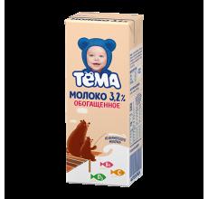 """Молоко """"Тема"""" 3.2% обогащенное 200г"""