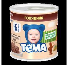 """Мясное пюре """"Тема"""" говядина 100г"""