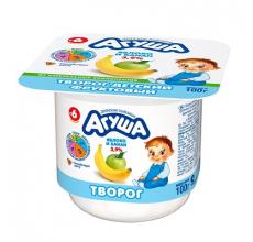 """Творог """"Агуша"""" яблоко-банан 100г"""