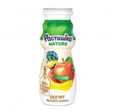 """Йогурт """"Растишка"""" яблоко-банан 90г"""
