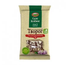 """Творог """"Село зеленое"""" 9% 180г"""