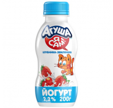 "Йогурт ""Агуша Я сам"" клубника-земляника 200г"
