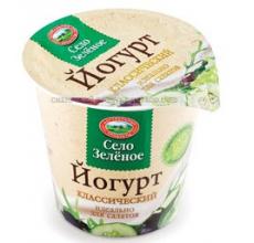 """Йогурт """"Село зеленое"""" классический 120г"""