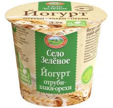 """Йогурт """"Село зеленое"""" отруби-злаки-орехи 120г"""