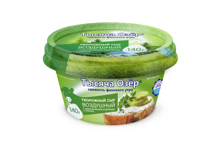 """Творожный сыр """"Тысяча озер"""" с зеленью 140г"""