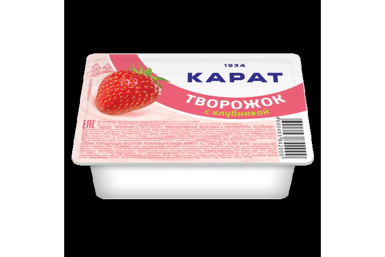 """Продукт творожный """"Творожок"""" клубника 100г"""