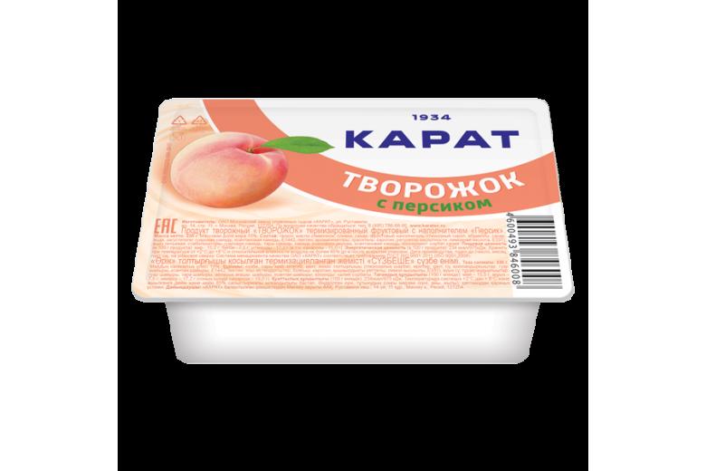 """Продукт творожный """"Творожок"""" персик 100г"""