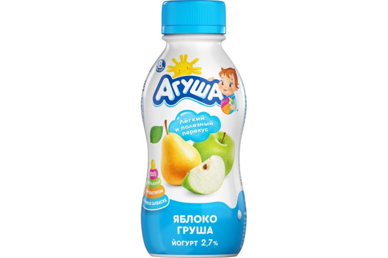 """Йогурт """"Агуша"""" яблоко-груша 200г"""