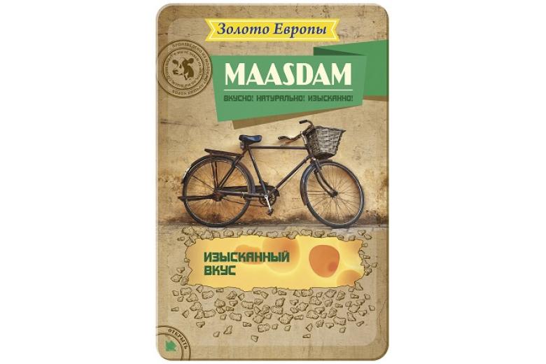 """Сыр """"Золото Европы"""" маасдам нарезка 150г"""